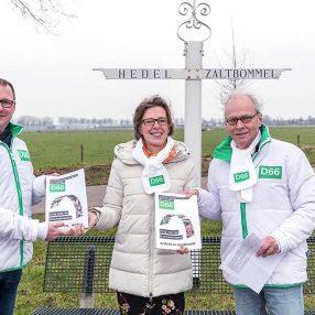 Presentatie Verkiezingsprogramma's Maasdriel en Zaltbommel aan Rita Braam, Statenlid provincie Gelderland